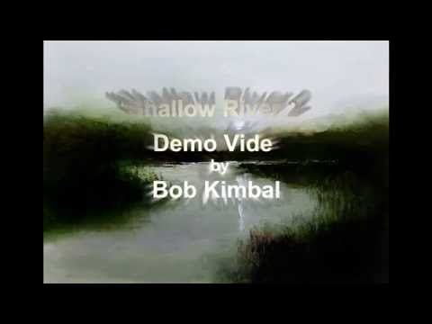 Painting demo tutorial Shallow River – How to paint with oils.
