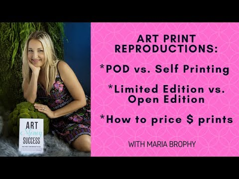 Making Print Reproductions of your Artwork - Instagram LIVE Video REPLAY