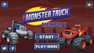 Blaze Monster Truck Memory Вспыш и чудо машинки Игра на память