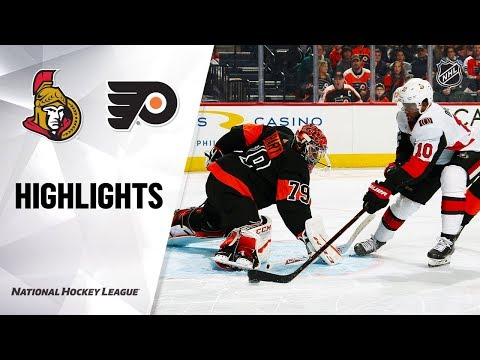 NHL Highlights   Senators @ Flyers 12/7/19