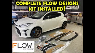 Flow Design GR Yaris Complete Kit | Splitter Install | Wing Extension | Rear Diffuser