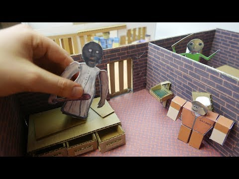 Creating ROBLOX Cardboard Jailbrake with GRANNY and BALDI. Real Life DIY