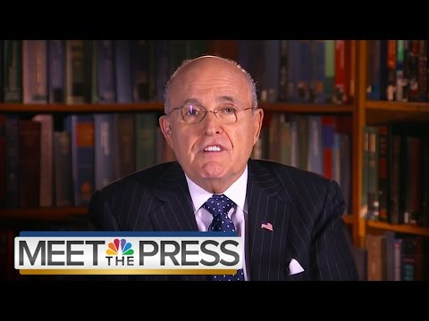Giuliani: Hillary Clinton Was 'Wrong to Attack' Monica Lewinsky in '98 | Meet The Press