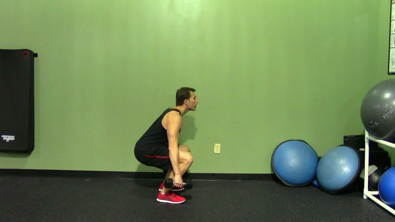 Dumbbell Squat - HASfit Squat Exercise Demonstration - Proper ...