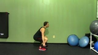 Dumbbell Squat - HASfit Squat Exercise Demonstration - Proper Squat Form - DB Squat Forms