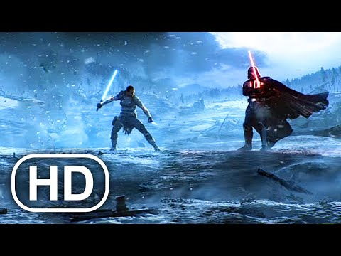 STAR WARS Darth Vader Kills Starkiller Fight Scene Cinematic 4K ULTRA HD - Force Unleashed Series