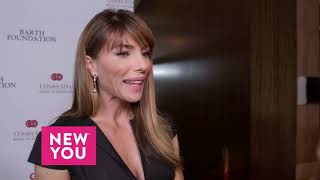 Jennifer Flavin Talks To Ashley Hume about Sylvester Stallone's Award at the Cedars-Sinai Gala