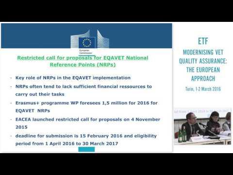 The European Quality Assurance Reference Framework (EQAVET)