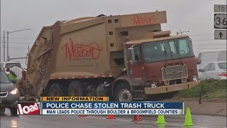 Police chase stolen trash truck