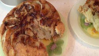 Шарлотка (яблочный пирог) в мультиварке