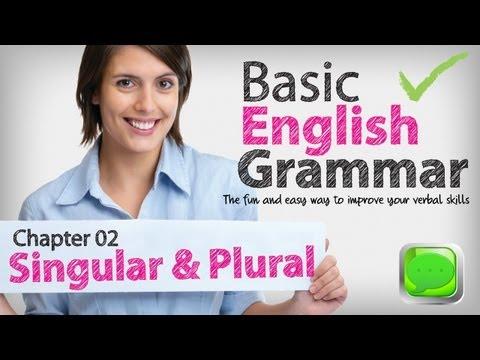 Basic English Grammar  02 -- Singular & plural nouns | English lesson | ESL | Spoken English