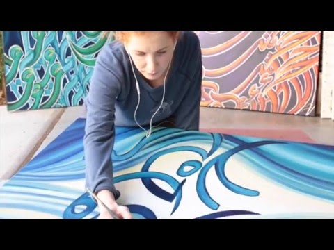 Live Arabic Calligraphy Painting