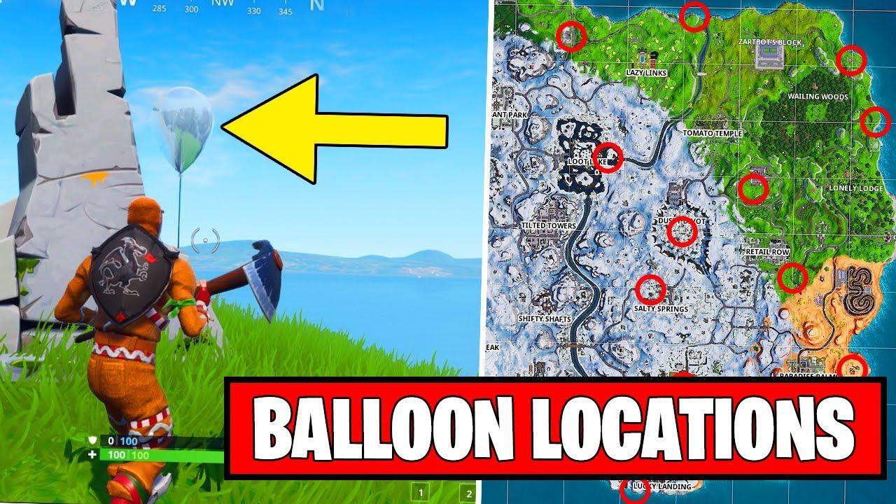 Pop 10 Golden Balloons All Locations Fortnite Season 7 Week 9 - pop 10 golden balloons all locations fortnite season 7 week 9 challenge guide