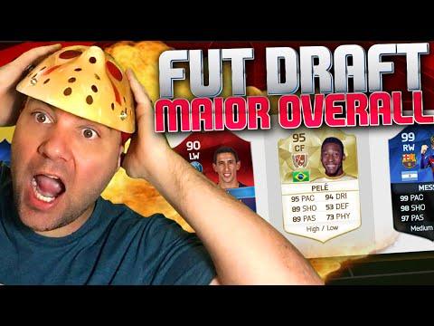 FUT DRAFT MAIOR OVERALL - MELHOR TIME FUT DRAFT DA MINHA VIDA - FIFA 16 UT