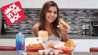 TRYING JACK IN THE BOX FOR THE FIRST TIME!!
