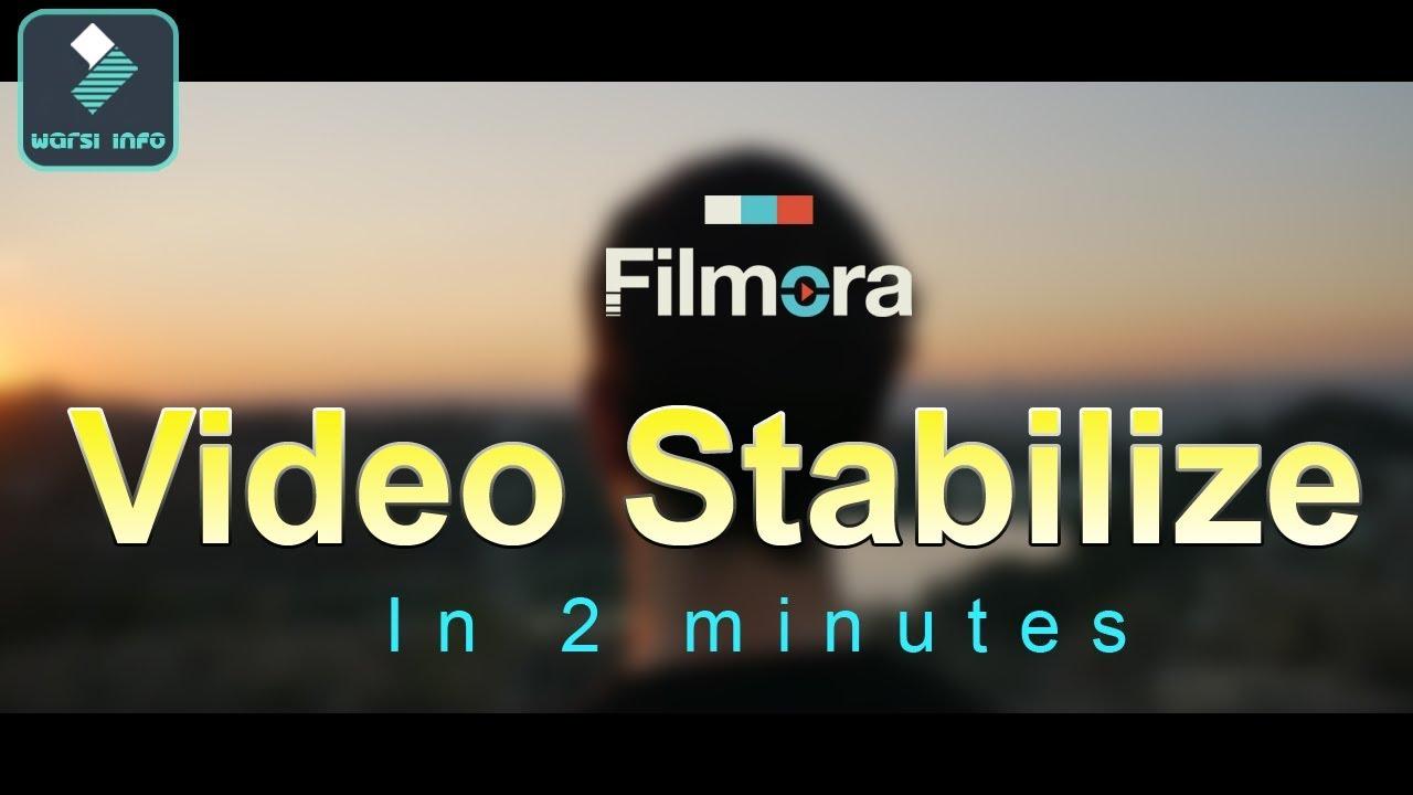 How to stabilize video in Wondershare filmora   Tutorial  Hindi