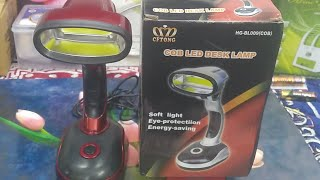 LED Desk Lamp powered by USB and 3 AA Batteries : Feature and Live Review (Hindi)