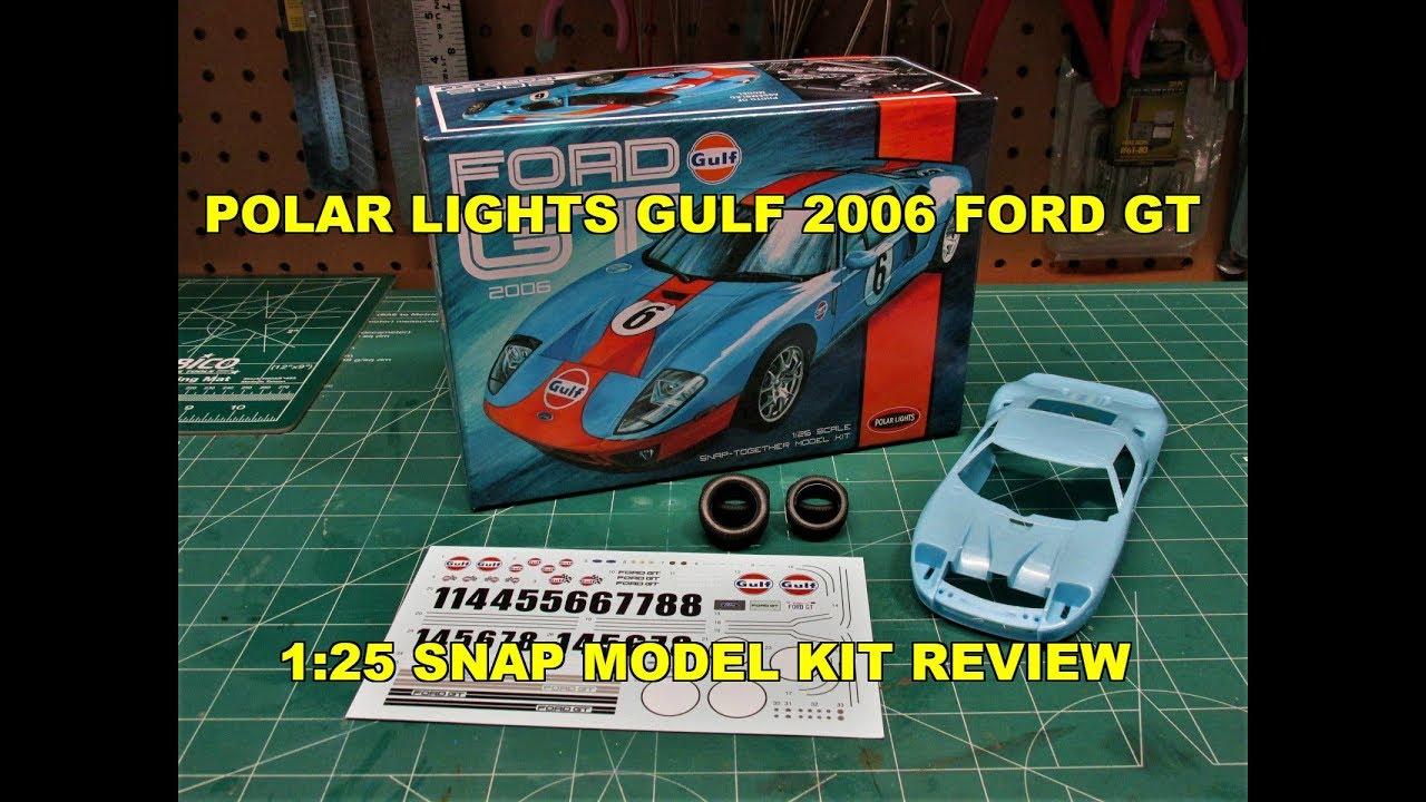 2006 Ford GT Gulf Color Snap Kit 1:25 Model Kit Bausatz Polar Lights POL955