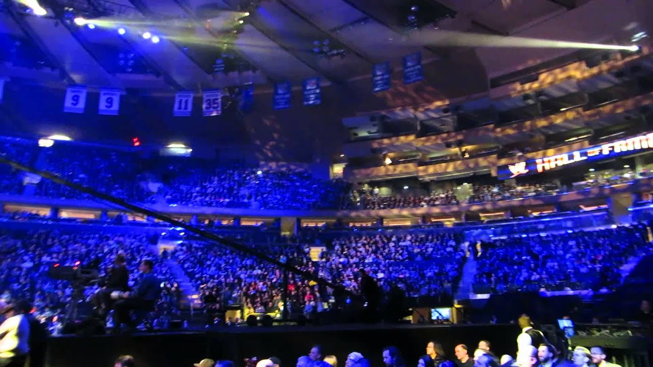 The Crowd At WWE Hall Of Fame 2013 @ Madison Square Garden, New York  6.4.2013