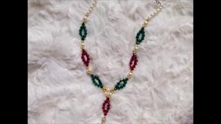 diy easy swarovski bicone necklace| beaded necklace tutorial |how to make necklace|handmade jewelery