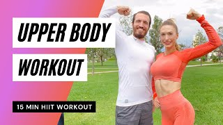 15dk ÜST VÜCUT ANTRENMANI | 15min Upper Body Workout |FITINSANE |
