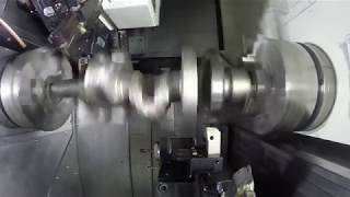 Crankshaft Machining on a Nakamura WT-300