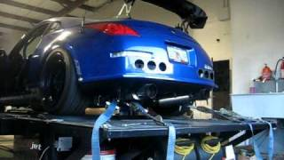 350z vq35hr dyno injen intakes hks exhaust tomei cams headers and test pipes cobb