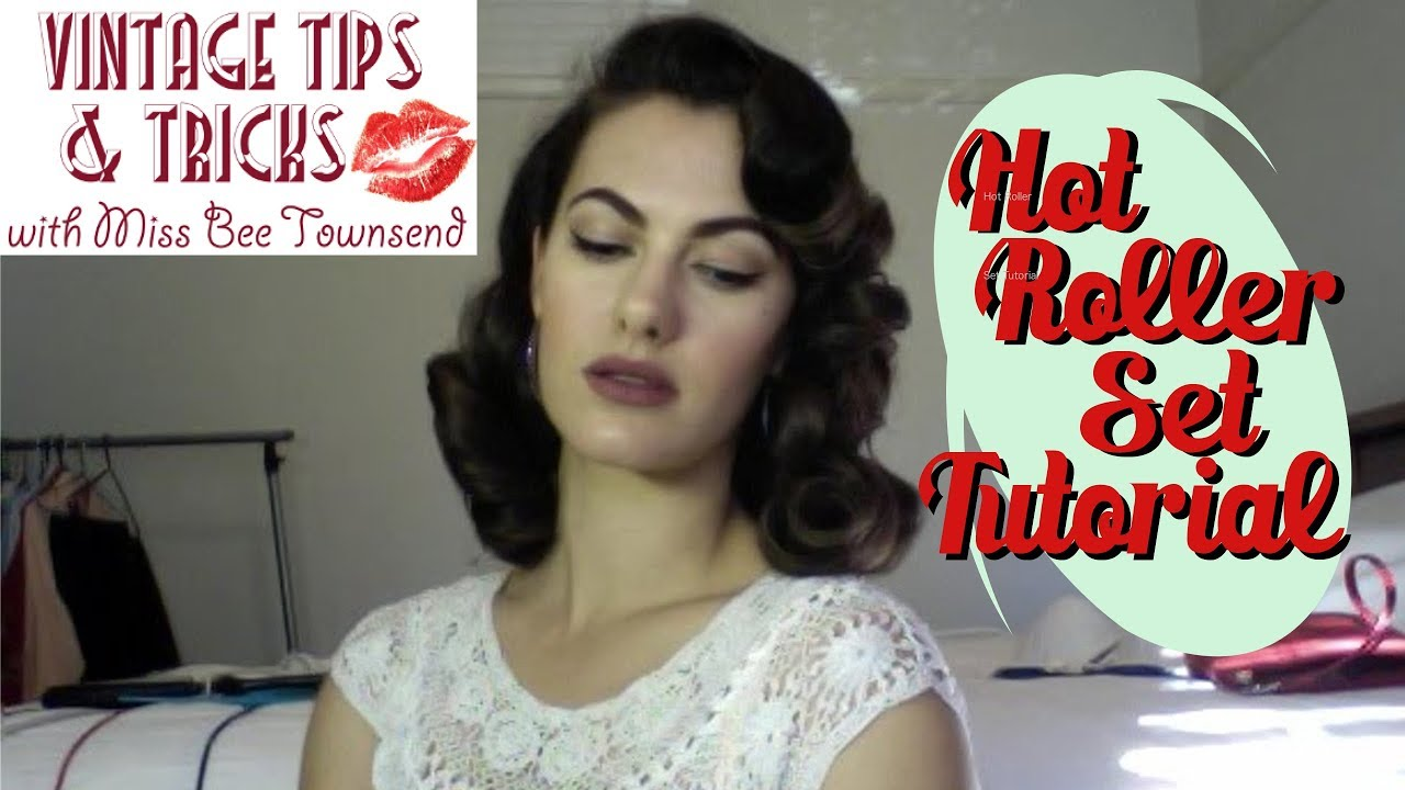 Vintage Hot Roller Set Tutorial Youtube