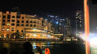 Dubai Mall musical fountain - 梁祝 (Butterfly Lovers)
