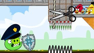 Crush Bad Piggies - ALL PIGGIES TRAPPED BY 3 ANGRY BIRDS