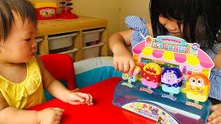 アンパンマン アイスキャンディのおもちゃでおみせやさんごっこ!おままごと Anpanman Ice candy Shop Toys