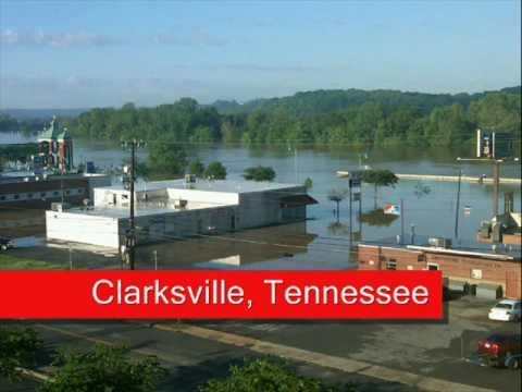 Flooding In Clarksville, Tennessee.wmv
