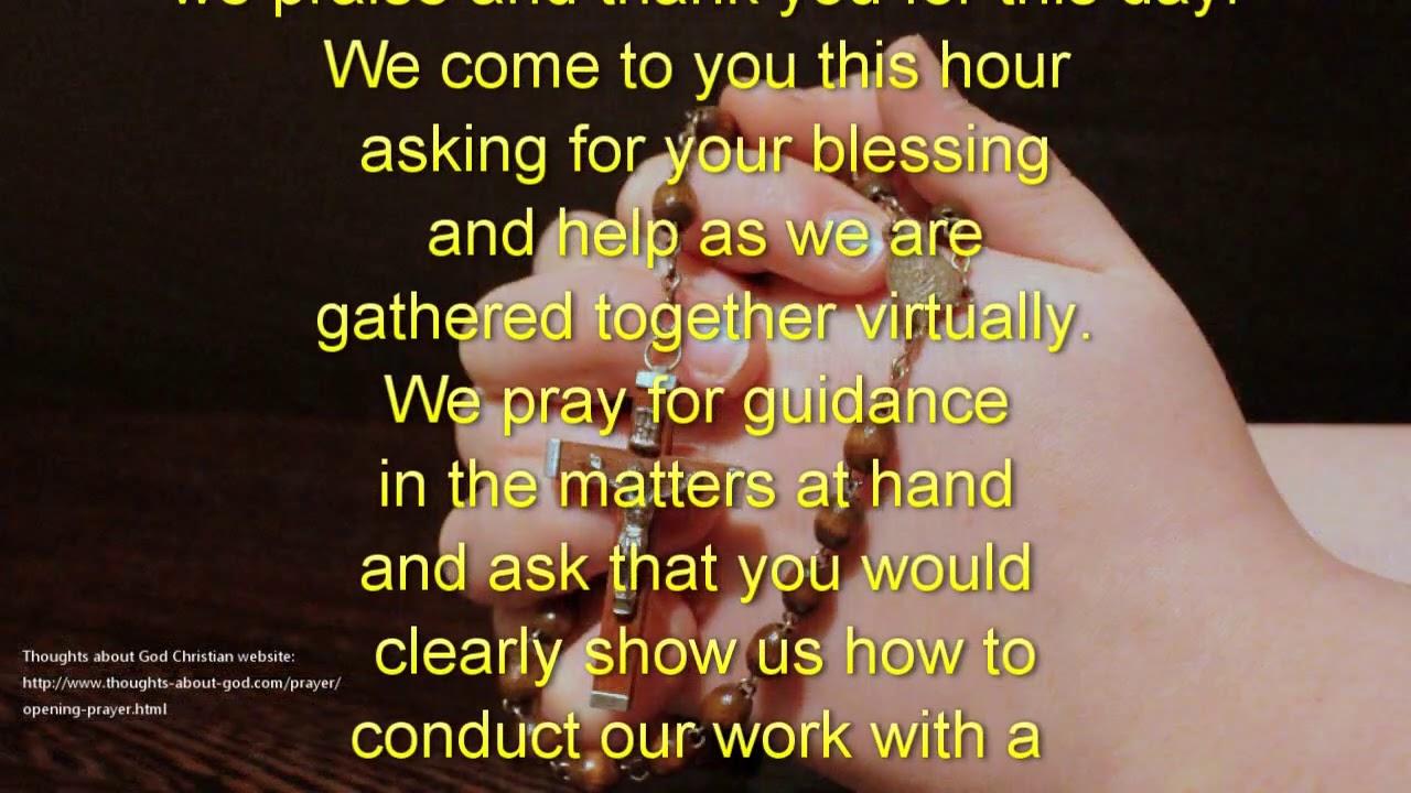 Work before morning prayer starting Prayer Before