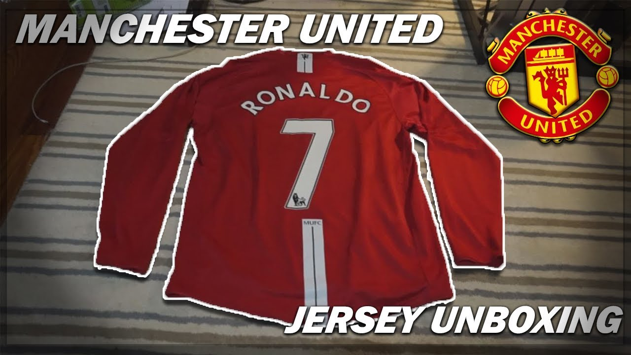 release date: f0343 c90a1 MANCHESTER UNITED 2007-09 RONALDO JERSEY UNBOXING