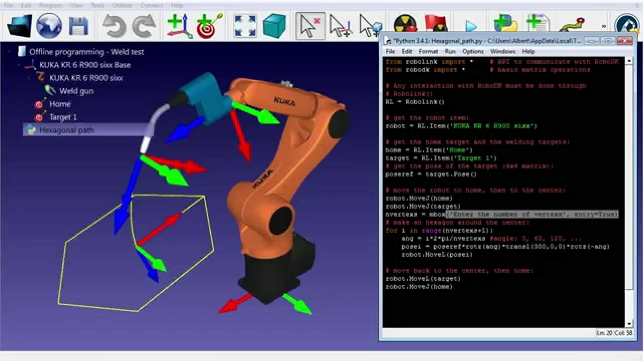 Robot Offline programming - RoboDK