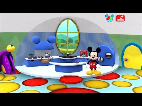 มิกกี้เม้าส์ Mickey ระบายสี เกมส์สำหรับเด็ก part3 ห้องครัว