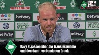 Werder-Neuzugang Davy Klaassen stellt sich vor
