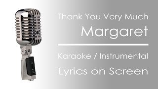 Thank You Very Much | Karaoke / Instrumental
