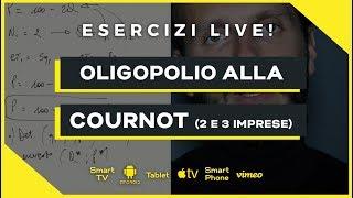 Oligopolio alla Cournot (2 e 3 imprese) | Microeconomia (Economia Politica) | Esercizio