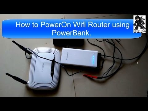 How to Power On WiFi Router using PowerBank USB