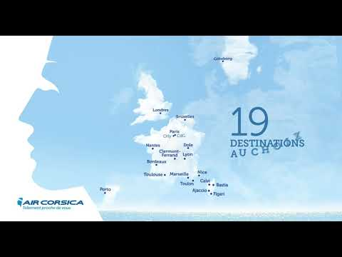 AIR CORSICA Video 19 destinations 2020