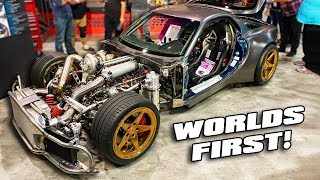 FIRST EVER billet 4 rotor AWD RX-7!