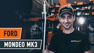 Cómo cambiar los puntal amortiguador parte trasera en FORD MONDEO MK3 Berlina [TUTORIAL DE AUTODOC]