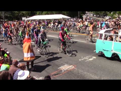 SEATTLE Fremont Solstice 2015  bike ride - BEST HD VIDEO
