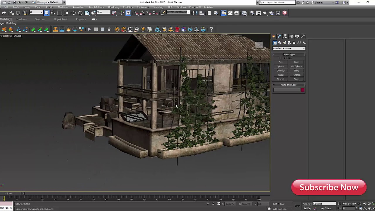abandoned house model for 3ds max free downloads (file)