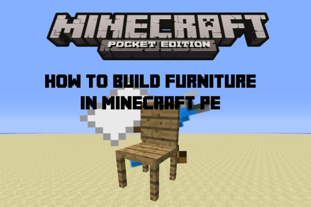 How to build Furniture in Minecraft Pe - YouTube