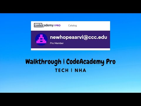 Walkthrough to our CodeAcademy Pro Account