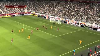 PES 2014 Gameplay Real Madrid-Atletico Madrid PL/ENG