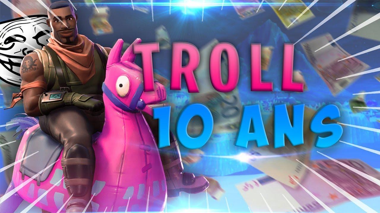JE TROLL UN ENFANT DE 10 ANS ! IL CROIT QUE JE CHEAT ! Fortnite Troll