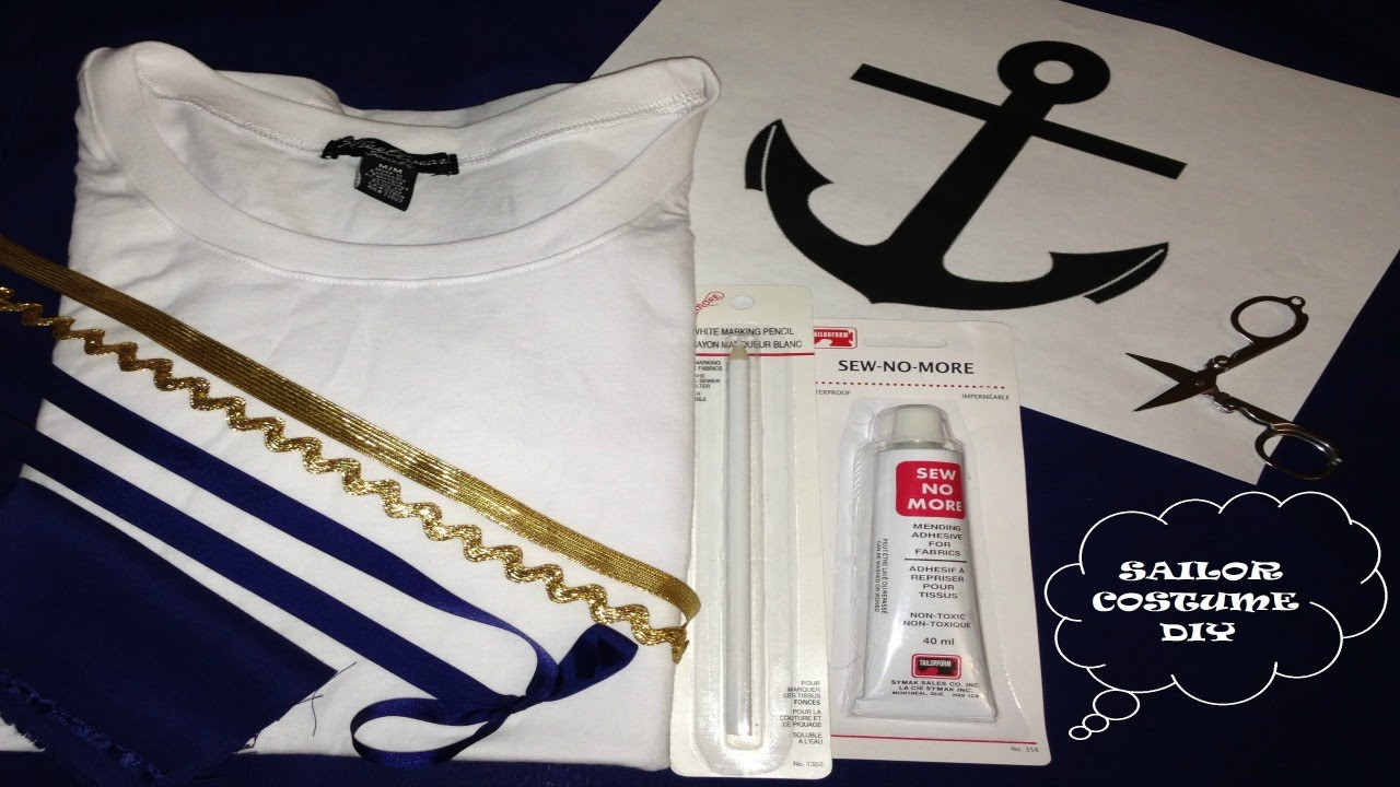 Diy sailor costume youtube solutioingenieria Image collections